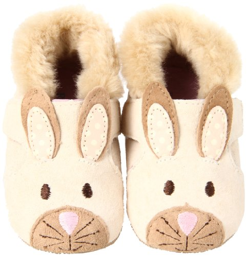 Robeez Mini Shoez 3D Ginger Bunny Slip On (Infant/Toddler),Vanilla,3-6 Months (2 M Us Infant) front-461779