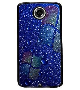 ColourCraft Water Drops Design Back Case Cover for MOTOROLA GOOGLE NEXUS 6