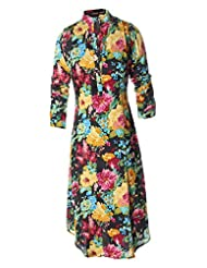 Azra Jamil Fine Cotton Multi Color Floral Printed Traditional Kurti For Women