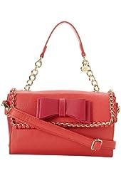 Betsey Johnson Tough Love Mini Satchel Bag, Pink/Red