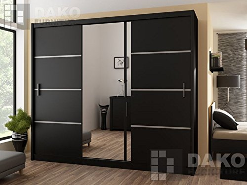 online store 67b40 9b491 Deals For Sliding Door Large Wardrobe with mirror 250 cm ...