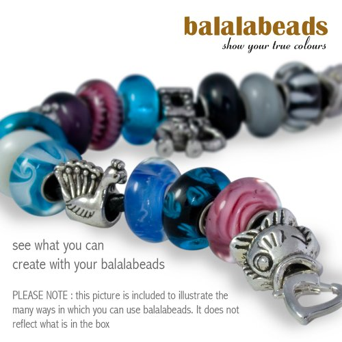 Imagen 5 de Balalabeads SN-SH-ES - 3 Abalorios de mujer de metal