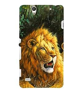 EPICCASE Lion Art Mobile Back Case Cover For Sony Xperia C4 (Designer Case)