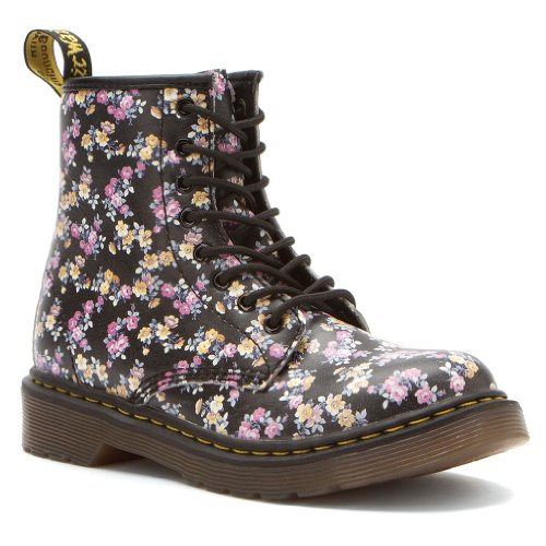Dr. Martens Dr. Martens Girl's DELANEY Black Boots 3 M UK, 4 M
