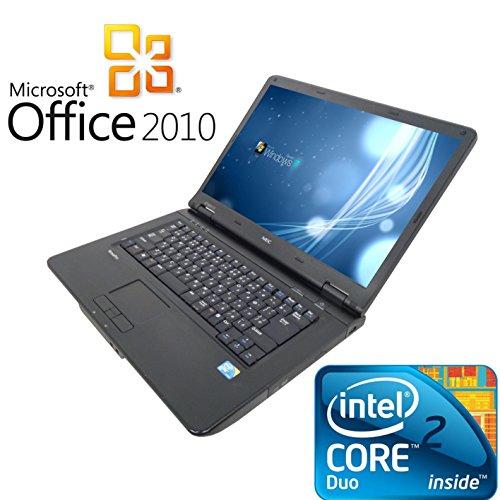 【Microsoft Office2010搭載】【Win7 搭載】NEC ノートパソコン/大容量メモリー2GB/DVDドライブ/大画面15インチ/無線LAN搭載/中古ノートパソコン
