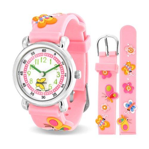 bling-jewelry-pink-girls-butterfly-animal-flower-kids-watch-stainless-steel-back