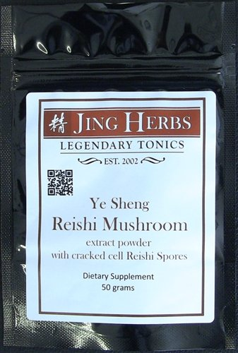 Jing Herbs Reishi Extract Powder With Spores 50 Grams