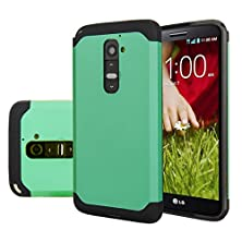 buy Lg G2 Case, Anoke Armor Dual Layer Bumper Tpu Pc Hybrid Protective For Lg G2, At&T, Sprint, T-Mobile, (Armor Mint)