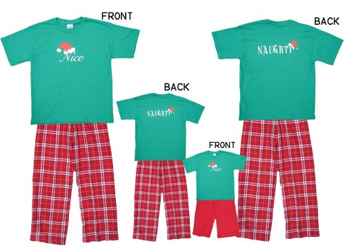 Naughty Nice Green Shirt Pant Set - Adult X-Large, S/S, RW