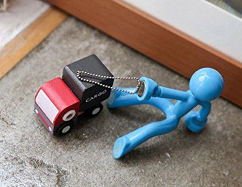 Novelty Wall Climbing Strong Magnetic Man Style Keyring Set Holder type.4