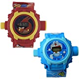 Shanti Enterprises Combo Angry Bird And Doraemon 24 Images Projector Watch
