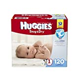 Huggies Snug and Dry Diapers, Size 1, 120 Count