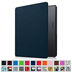 Fintie SmartShell Case for Kindle Oasis - Premium Thinnest and Lightest PU Leather Cover with Auto Wake / Sleep for Amazon New Kindle Oasis (2016 Released), Navy Blue
