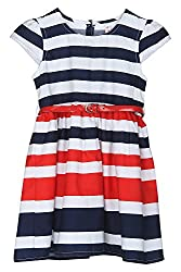 Chalk by Pantaloons Girl's Skater Dress ( 205000005606738, Red, 3-4 Years)