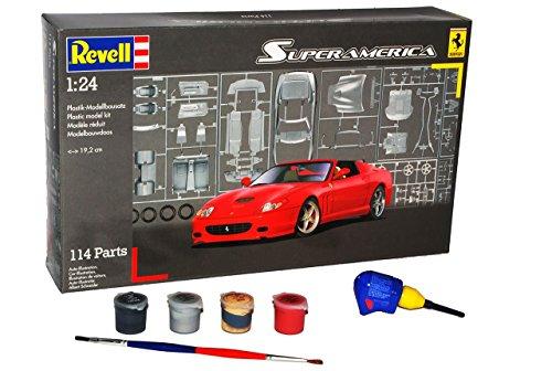 ferrari-superamerica-cabrio-rot-offen-07391-mit-farben-pinsel-und-leim-bausatz-kit-1-24-revell-model