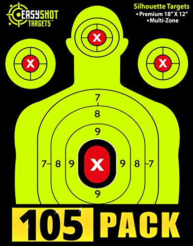 105-pack-silhouette-shooting-targets-by-easyshot-bright-and-colorful-fluorescent-green-easy-to-see-s