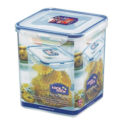 Lock&Lock, 88-Oz / 11-Cup, Bpa Free, 100% Water Tight, Square Food Storage Container, Hpl822B