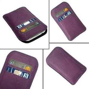 i-KitPit Quality PU Leather Pouch Case Cover For LG Optimus L5II Dual (E455) / L5II ((E450) (PURPLE)