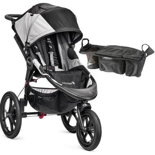 Baby-Jogger-Summit-X3-Single-Jogging-Stroller-with-Parent-Console-Black-Gray