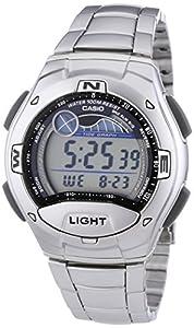 Casio - W-753D-1A - Sports - Montre Mixte - Quartz Digital - Cadran LCD - Bracelet Acier Gris