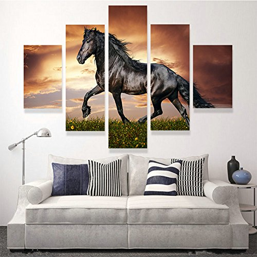hcozy-5-panneau-moderne-imprime-grand-cheval-peinture-photo-cuadros-paysage-toile-wall-art-home-deco
