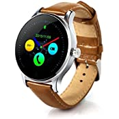 Witmood K88h Round Smart Watch Heart Rate Monitor Wristwatch With Remote Camera Clock Bluetooth For Android And... - B01FU75CA0