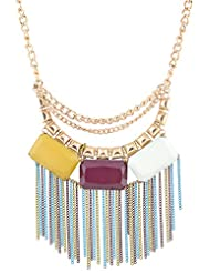 Asha Woman Multi Color Metal Chain Necklace For Women