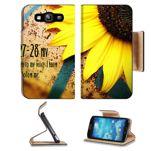 Christian Wallpaper With Sunflower Samsung Galaxy S3 I9300 Flip Cover Case With Card Holder Customized Made To Order Support Ready Premium Deluxe Pu Leather 5 Inch (132Mm) X 2 11/16 Inch (68Mm) X 9/16 Inch (14Mm) Msd S Iii S 3 Professional Cases Accessori