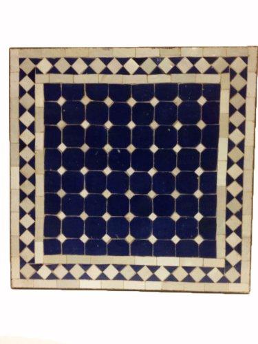 Mosaiktisch Beistelltisch Marrakesch Blau/ Weiss, 50x50cm NEU günstig