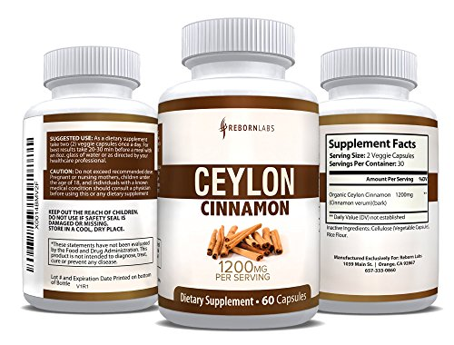 Organic Ceylon Cinnamon Capsules for Blood Sugar Support & Weight Loss | Healthier, True Cinnamon Capsules from Sri Lanka | 60 Cinnamon Pills | 1,200mg Cinnamon Bark Extract | Natural Supplement (Black Seed Extract Capsules compare prices)