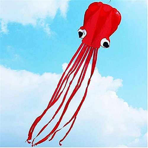 AOBOR Kite-Beautiful Large Easy Flyer Kite For Kids - Red Software Octopus-It's BIG! 31 Inches Wide With Long...