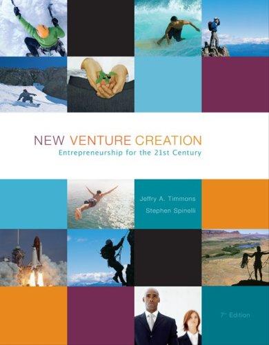 New Venture Creation and Entrepreneurship, Short Course