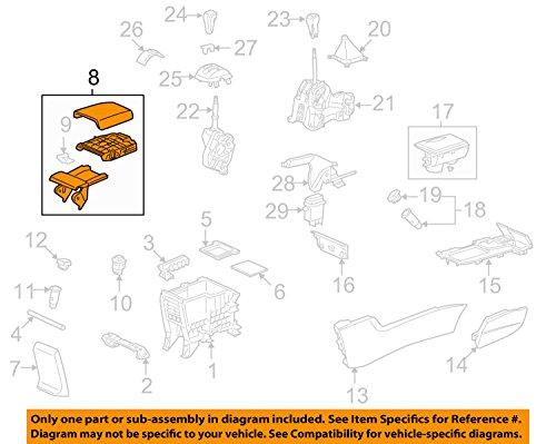 Genuine Honda 83450-TA0-A01ZC Console Armrest Assembly (2009 Honda Accord Console Armrest compare prices)