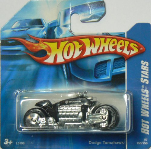 Hot Wheels Stars Black Dodge Tomahawk 155/156 on Short Card - 1