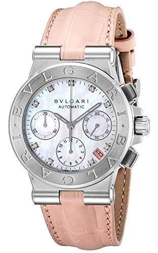 BVLGARI Diagono Tachimetric White Dial Ladies watches DG35C2SLDCH/9