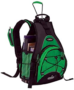 Case-it BK-SBK-50 Book Sling Backpack with Auto Cinch (Green)