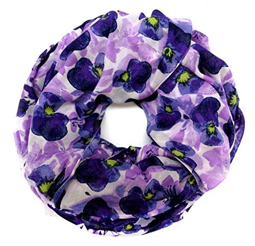 accessu-Echarpe-Foulard-pour-Femme-Floral-Watercolor-Design-bluepurple