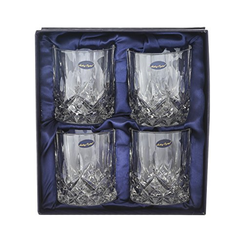 Amlong Crystal Lead Free Double Old Fashioned Crystal Glass, Set of 4 (Crystal Bourbon Glasses compare prices)