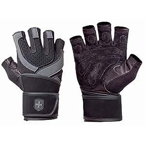 Harbinger Wistwrap Training Grip Gloves - L, Black