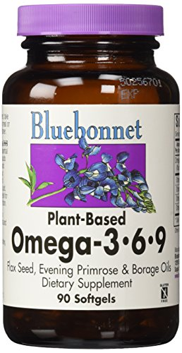 BlueBonnet Plant Based Omega 3-6-9 Softgels, 1000 mg, 90 Count (Gluten Free Omega compare prices)