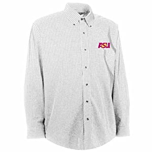 Arizona State Esteem Button Down Dress Shirt (White) by Antigua
