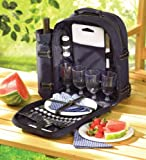 All In One Picnic Travel Backpack Plates Cutlery Set