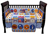 Babys Blue City Life Cute 4 Piece Crib Bedding Set Blankets And Beyond