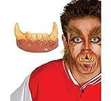 Dientes con colmillos hombre lobo