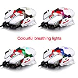 DZT1968® Professional 4000DPI 10D LED Sword Master Optical Wired Gaming Mouse Mice For PC Laptop Dota FPS