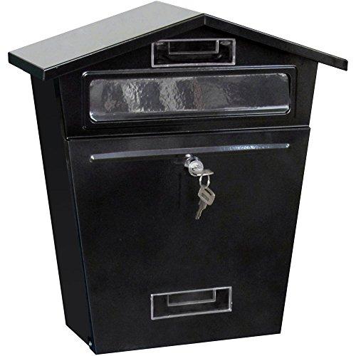 Black Metal Letterbox / Postbox Wall Mountable / Lockable