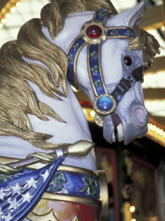 Horse on Carousel in Caras Park, Missoula, Montana