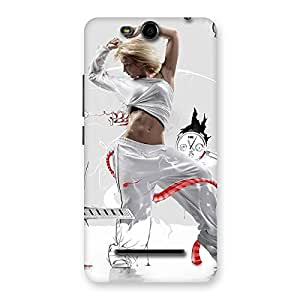 Special White Dance Red Ribbon Back Case Cover for Micromax Canvas Juice 3 Q392