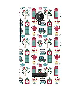 Taxi Design Cute Fashion 3D Hard Polycarbonate Designer Back Case Cover for Micromax Canvas Spark Q380