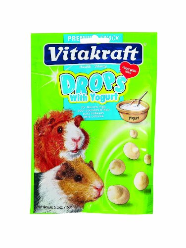 Vitakraft Guinea Pig Drops with Yogurt Treat, 5.3 Ounce Pouch (Yogurt Drops For Rabbits compare prices)